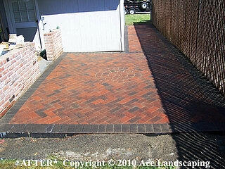 Custom brick pavers